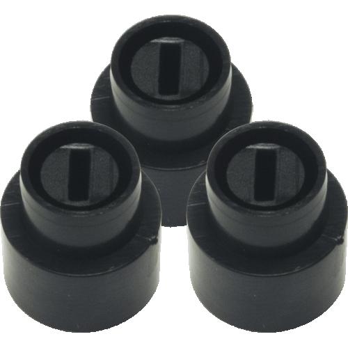 Knob, Telecaster switch tip (3 pieces), black image 1