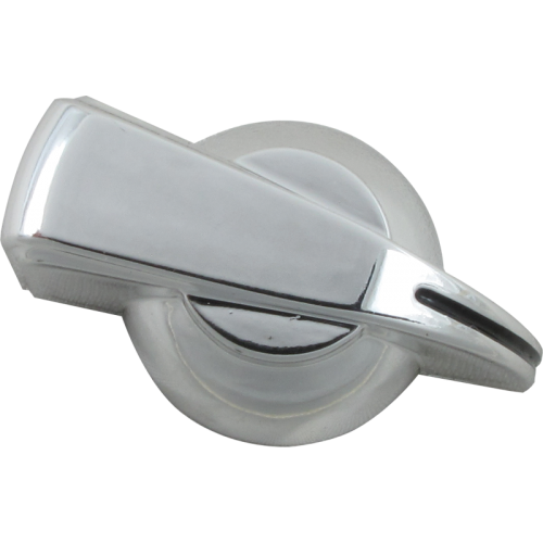 Chicken-head Knob, push on for knurled shaft, silver image 1