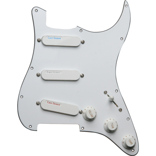 Loaded Pickguard - Lace, White, 1 Each: Blue, Silver, Red image 1