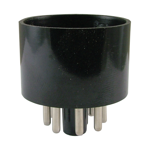 Tube Base - 8 Pin, Octal, Black image 1