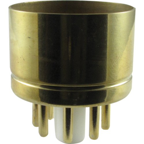 "Tube Base - 8 Pin, Gold Coated Pins, 1.20"" diameter image 1"