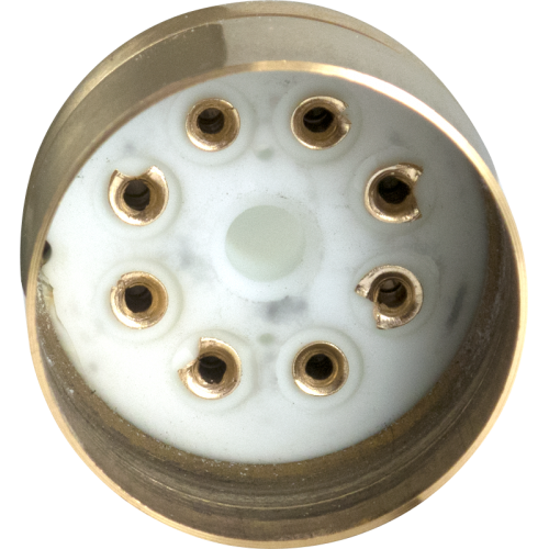 "Tube Base - 8 Pin, Gold Coated Pins, 1.20"" diameter image 2"