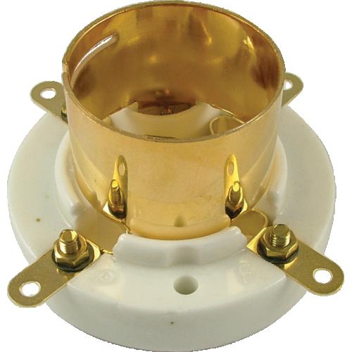 Socket - 4 Pin, Jumbo, Ceramic Bayonet, Gold Plated image 1