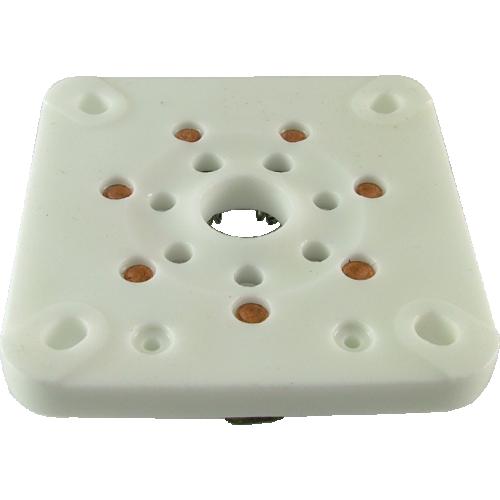 Socket - 7 Pin, Large, Ceramic for 813, Chinese image 1