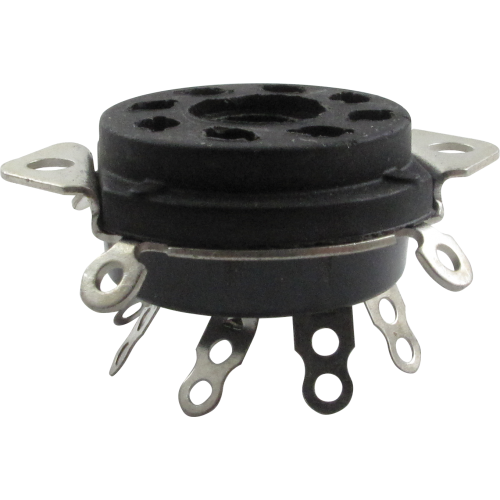 "Socket - 8 Pin, 1"" Chassis Hole, 1-1/4"" Mounting Centers image 1"