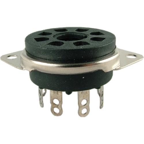 Socket - 8 Pin Octal, Saddle Plate, Black, Top Mount image 1