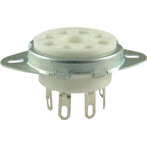 "Socket, 8 pin octal, 1"" with bracket image 1"