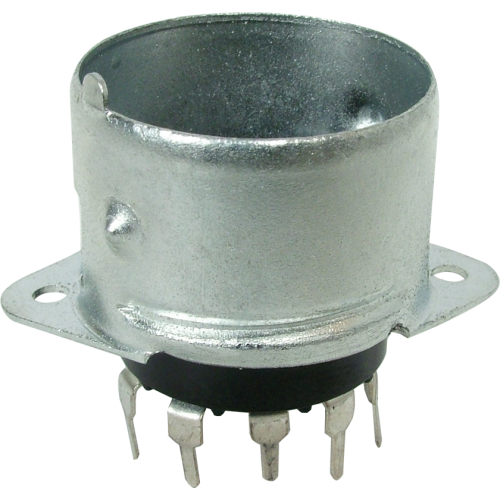 Socket - 9 Pin, Miniature, PC mount, with Shielded Base image 1