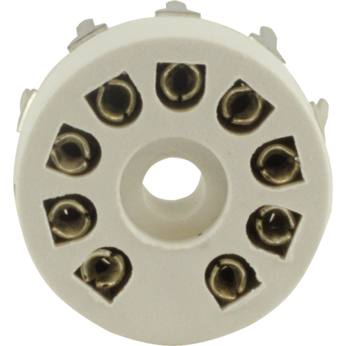 Socket - 9 Pin, Miniature, Plastic, PC Mount image 2