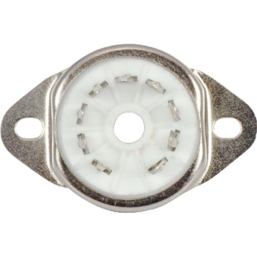 Socket - 9 Pin, Miniature, Ceramic, Chassis Mount image 3