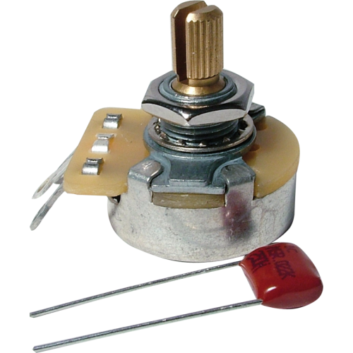 Potentiometer - Fender®, 250K, Audio, Knurled Shaft image 1