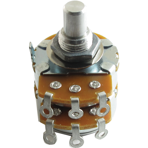 "Potentiometer - Alpha, 250K Audio, Dual, 3/8"" Bushing image 1"
