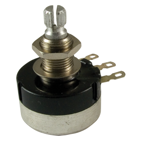 Potentiometer - 500K Audio, Sealed, 24mm Knurled Shaft image 1