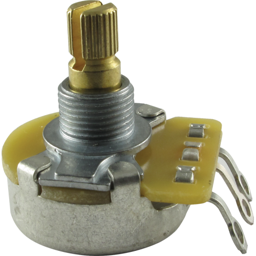 "Potentiometer - Fender®, 50K, Audio, Split Shaft, 1/4"" Bushing image 1"