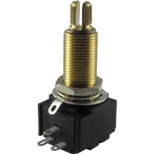 Potentiometer - Bourns, Linear, Knurled Shaft, Conductive Polymer image 1