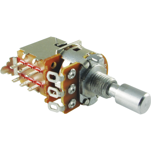 Potentiometer - Alpha, Linear, Solid Shaft, DPDT Switch, 7mm Bushing image 1