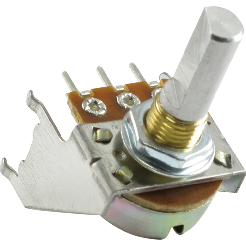 Potentiometer - Fender®, 100K, 30C Taper, D Shaft, Snap-In image 1