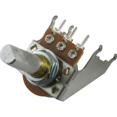 Potentiometer - Audio, D Shaft, 16mm, Snap-In, w/ Bracket image 1