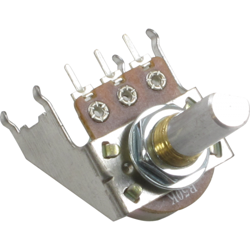 Potentiometer - Linear, D Shaft, 16mm, Snap-In, w/ Bracket image 1