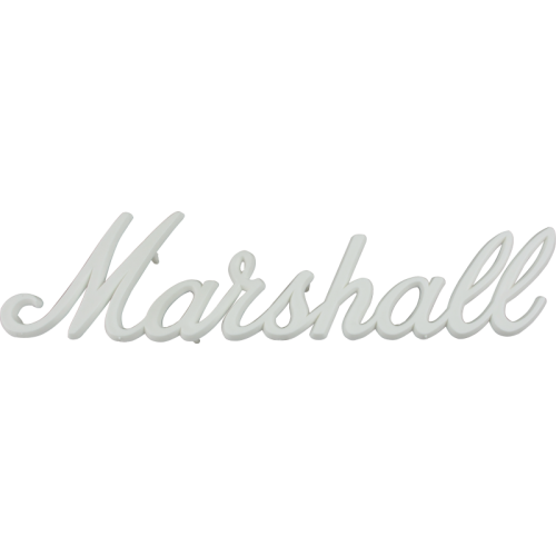"Logo, Original Marshall 9"" White Script image 1"