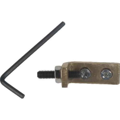 Tremolo Stopper - 1 brass block; 1 inner hexagon screw; 2 mounting screws; 1 allen key image 1
