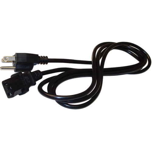 Cord - Power, 18 AWG, 3 Conductor, Detachable, Black image 1