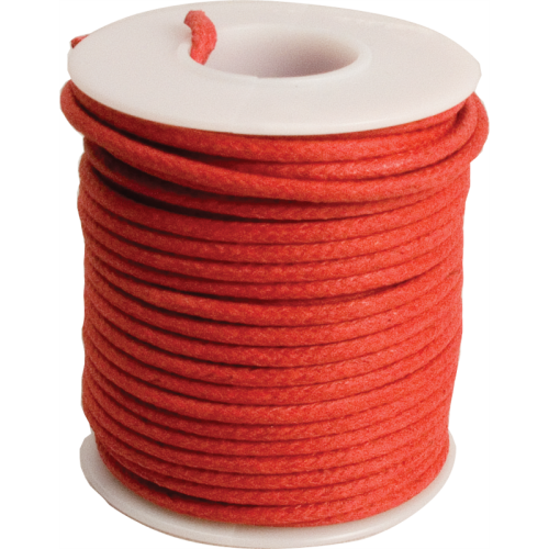Wire - 20 AWG Solid Core, Lacquered Cloth Cover, Red, 600V image 1