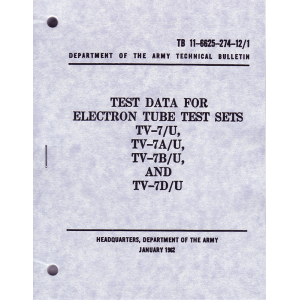 TV-7/U Test Set-Up Data
