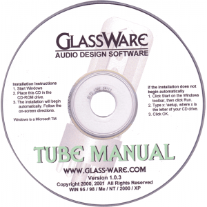 Glassware Tube Manual, CD-ROM