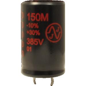 Capacitor - JJ Electronics, 385V, 100µF, Electrolytic