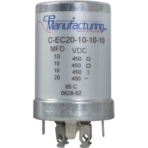 Can Cap, Multi-section, 20/10/10/10uF 450VDC, CE Manufacturing