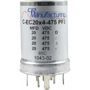 Capacitor - Electrolytic, 20/20/20/20 µF @ 475 VDC, PC Mount