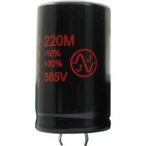 Capacitor - Electrolytic, 220 µF @ 385 VDC, JJ Electronic
