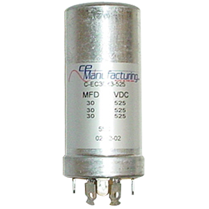 Can Cap, Multi-section, 30/30/30uF 525VDC, CE Manufacturing