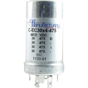 Capacitor - CE Mfg., 475V, 30/30/30/30µF, Electrolytic