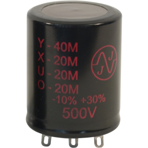 Capacitor - Electrolytic, 40/20/20/20 µF @ 500 VDC, JJ Electronic