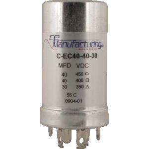 Can Capacitor - Multi-section, 40u@450V, 40u@400V, 30u@350V, CE