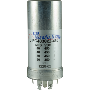 Capacitor - CE Mfg., 450V, 40/40/30/30µF, Electrolytic