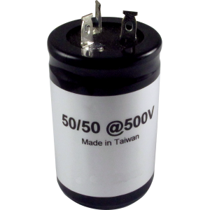 Capacitor - 500V, 50/50uF, Electrolytic