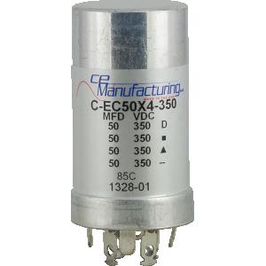Capacitor - CE Mfg., 350V, 50/50/50/50uF