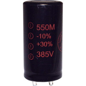 Capacitor - Electrolytic, 550 µF @ 385 VDC, JJ Electronic