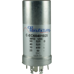 Capacitor - Electrolytic, 60/525, 40/525, 10/450, 25/50