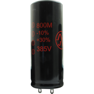 Capacitor - Electrolytic, 800 µF @ 385 VDC, JJ Electronic