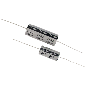 Capacitor - Illinois, 500V, 10µF, Axial Lead Electrolytic