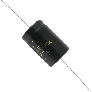 Capacitor - F&T, 350V, 100µF, Axial Lead Electrolytic