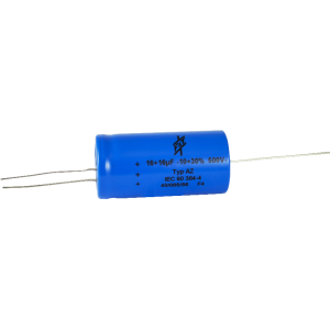 Capacitor - F&T, 500V, 16/16µF, Axial Lead Electrolytic