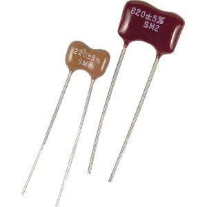 Capacitor - Silver Mica, 500 V, 10pF - 1000pF