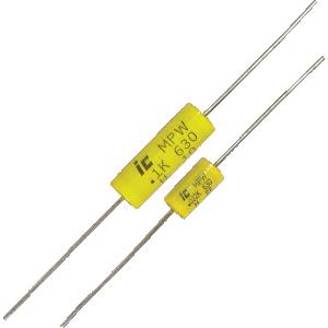 Capacitor - Polypropylene, Tubular, 630V, .001µF - .47µF