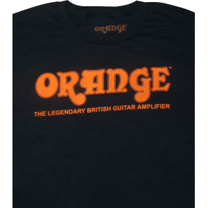 T-Shirt - Orange Amps, Black Retro