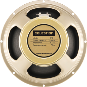 "Speaker - Celestion, 12"", G12H-75 Creamback, 75 watts"